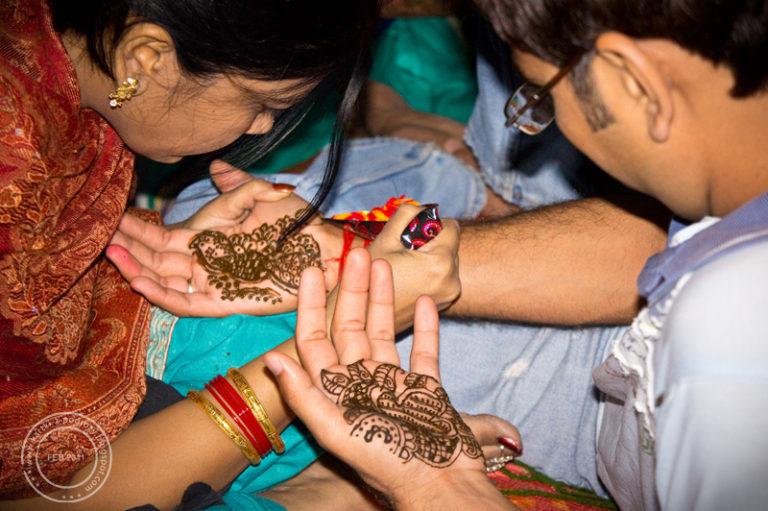 Hinduski ślub - henna, mehendi