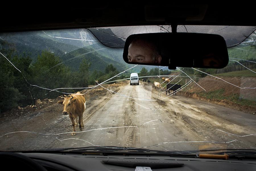 Gdześ na na drodze w Górnej Swanetii.