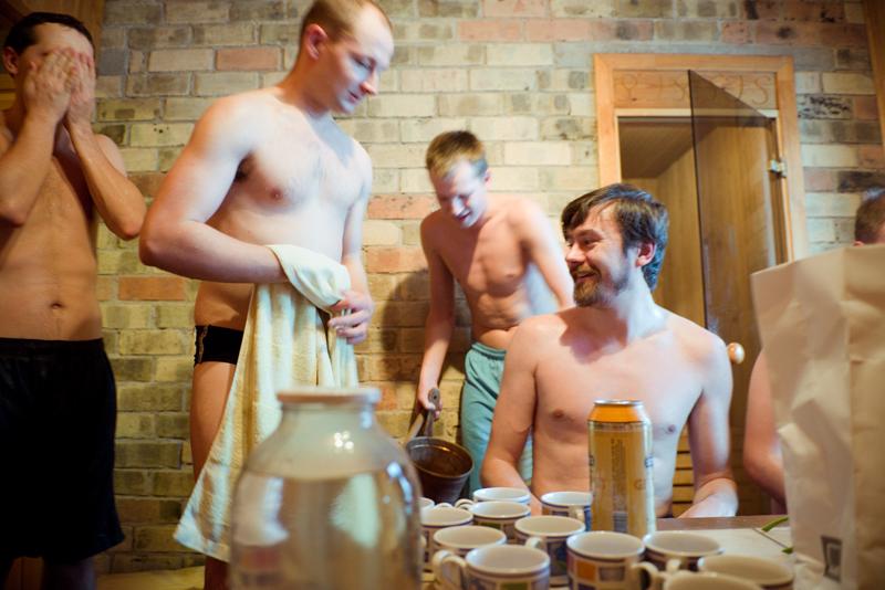 Kąpiel w bani to okazja do spotkań w relaksującej atmosferze