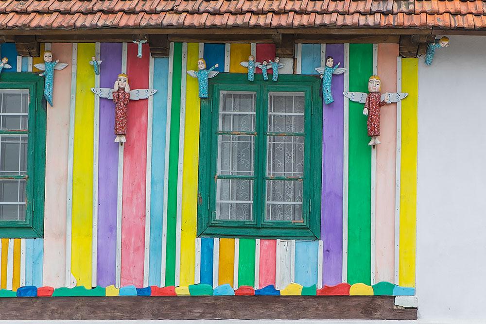 Anielska galeria w jednym z Olsztyńskich podwórek.