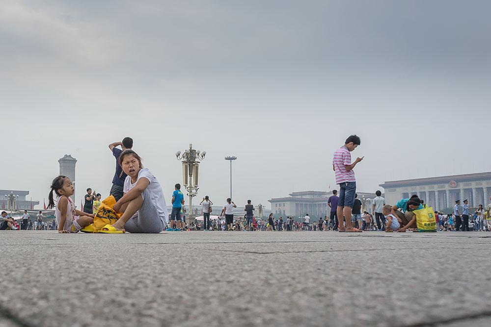 Plan Tiananmen oblegany przez turystów z całego kraju.