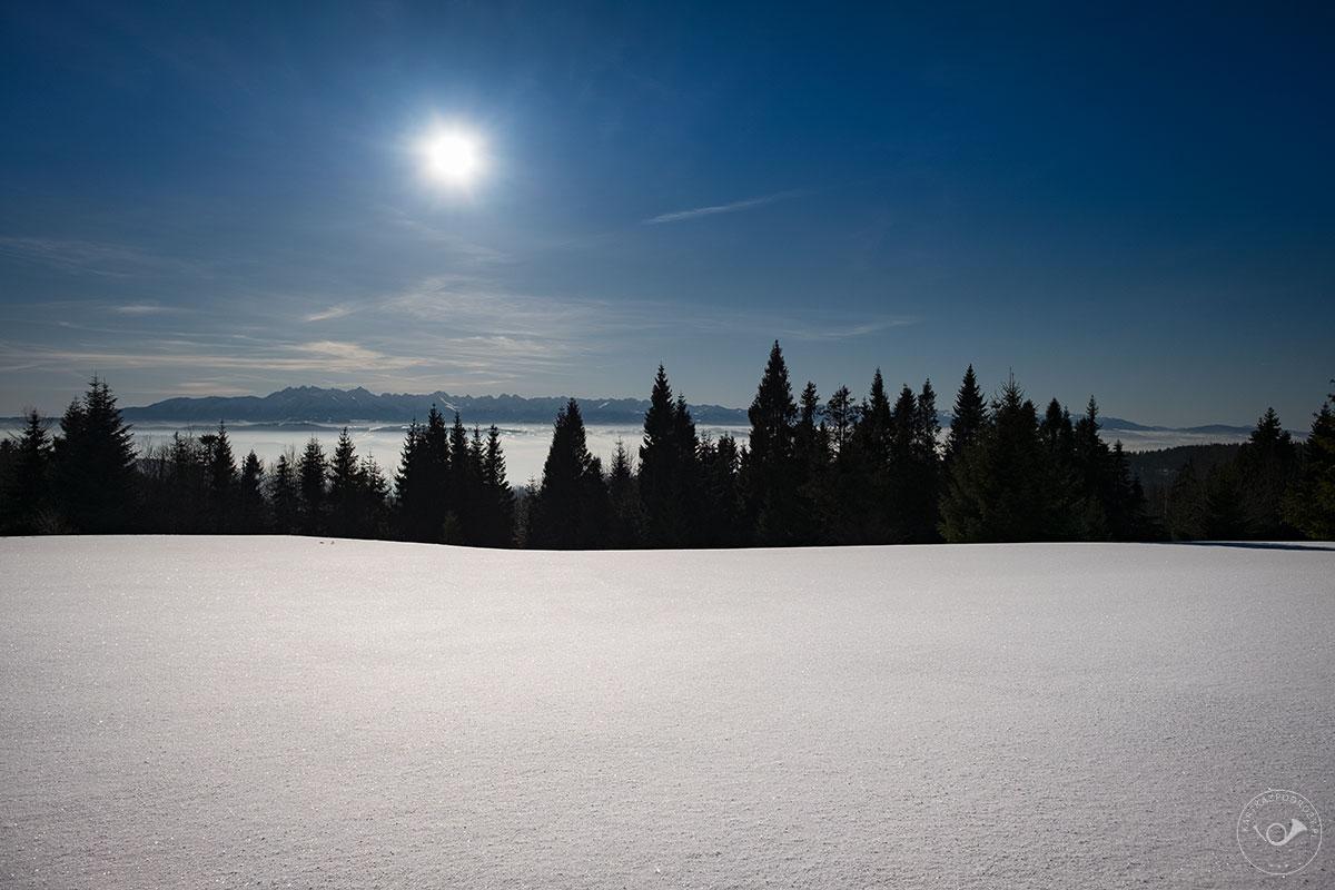 Zasypane śniegiem Gorce.