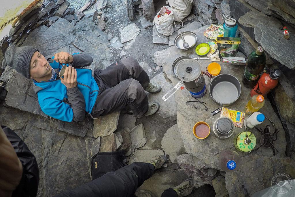 Kuchnia obozowa w górach wysokich