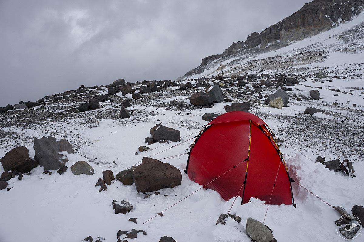 Namiot w Nido de Condores.