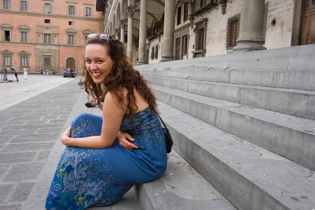 Monika na Piazza della Santissima Annunziata.